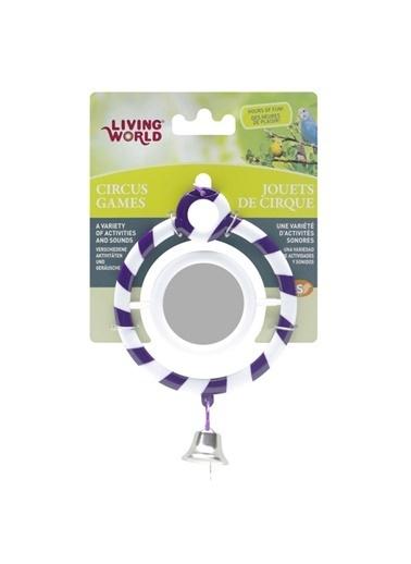 JBL Living World Zilli Aynalı Kuş Oyuncağı Mor Halka Renkli